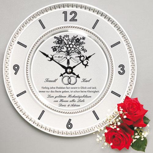 Zinn Uhr Mit Gravur Spruch